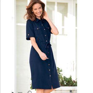 Appleseed's Navy Traveler's Dress in Size 16